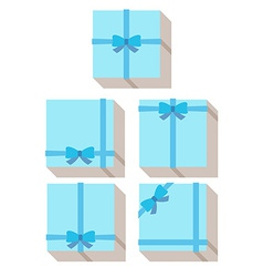 Flat style wrapped gift or gift card vector
