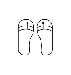 flip flop icon vector image vector image