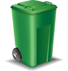 Green street trash can vector