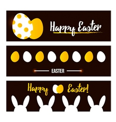 Happy easter banner set collection vector
