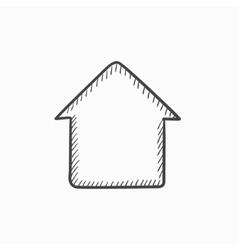 House sketch icon vector image