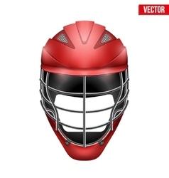 Lacrosse Helmet Front View vector image vector image