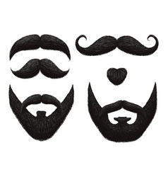 male beards and mustache barbershop templates vector image vector image