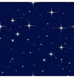Night sky and stars vector