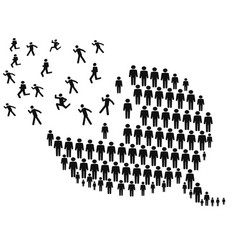 People forming speech bubble vector