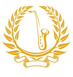 saxophone symbol vector image vector image