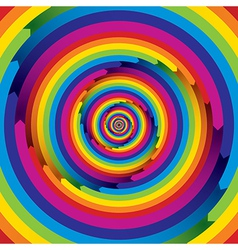 Spiral rainbow infinite design vector image