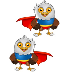 Super Bald Eagle Character 1 vector image