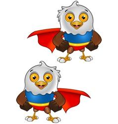 Super Bald Eagle Character 1 vector image