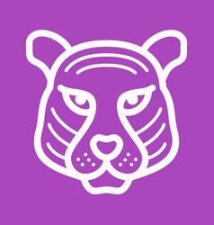 Tiger face vector