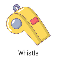 Whistle icon cartoon style vector