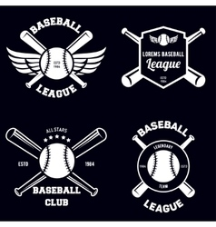 Set of baseball sport badge logo design template vector image