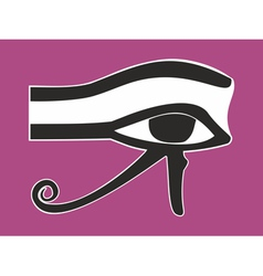 Egyptian eye of horus - ancient religious symbol vector