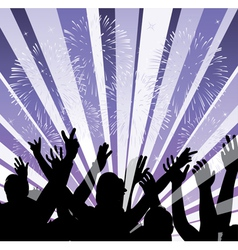 fireworks and people vector image