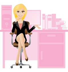 office lady vector image