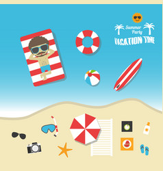 483summer vacation vector image