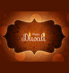 Awesome diwali paisley design wallpaper vector
