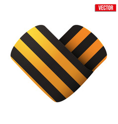george ribbon icon in the form of heart vector image