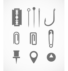 Sharp instrument silhouettes vector