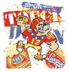 Bulldog football team vector image