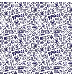 Space - seamless background vector
