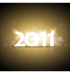 new years card 2011 vector image