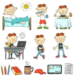 Boy during the day vector
