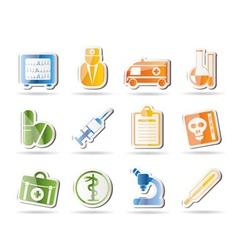 Amedical and healthcare icons vector