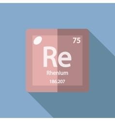 Chemical element rhenium flat vector