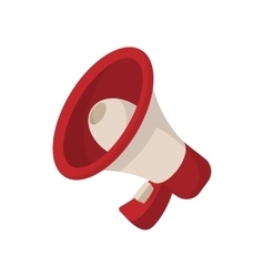 Megaphone icon cartoon style on white vector