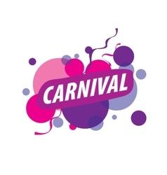 Abstract logo carnival vector