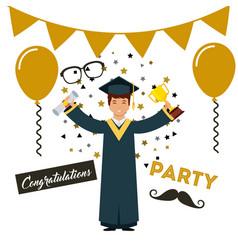 academic graduation design vector image