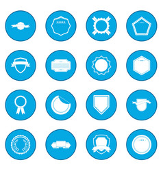 Badges icon blue vector