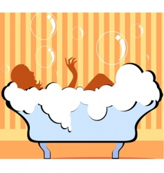 bath tub vector image vector image