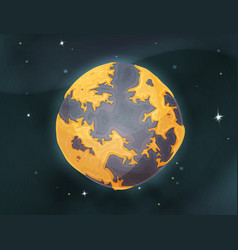 Cartoon earth planet on space background vector