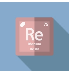 Chemical element rhenium flat vector