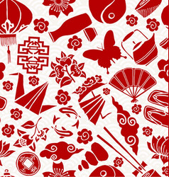 Chinese new year asian culture seamless pattern vector
