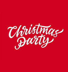 christmas party - hand drawn brush pen vector image vector image