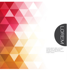 Colorful transparency and fade triangle vector