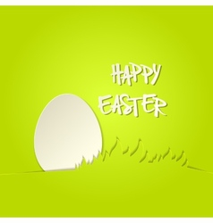 Easter bunny in grass greeting card vector image vector image