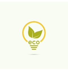 Electric lamp with green leaves vector