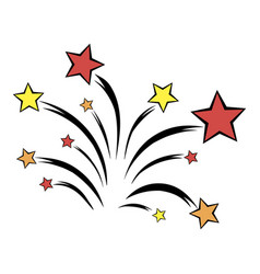 firework icon cartoon vector image