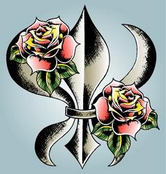 fleur de lis vector image