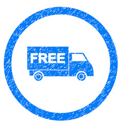 Free shipment rounded grainy icon vector