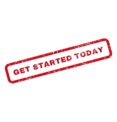 Get Started Today Text Rubber Stamp vector image