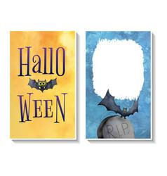 halloween card templates2 vector image vector image