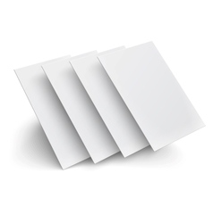 Hover blank pages on white background vector image vector image