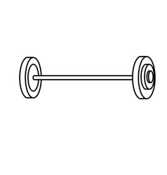 Line dumbbell fitness tool to do exercise and vector