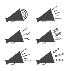 Megaphone icons vector