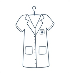 Nurse or doctor uniform isolated on white vector image